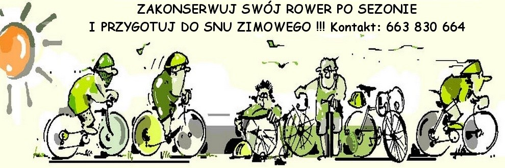 serwis rowerów przed zimą